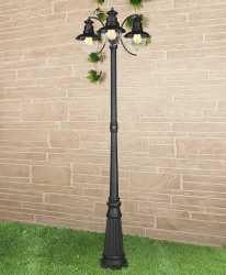 Садовый светильник Elektrostandard Talli F/3 черный
