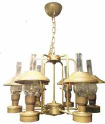"Г00446611 Люстра ""Керосиновая лампа"",  Е-14*6, D=700мм H=400мм, цепь ""Груша"" большая, латунь"