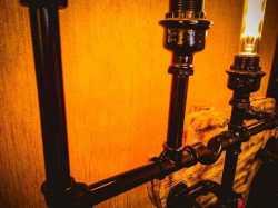 Светильник Огненный олень настенный / напольный в стиле лофт из чугуна,