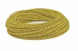 Провод витой Interior Wire 2х0.75 (цвет песочное золото) арт.00313946