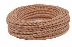 Interior Wire Провод двухжильный ПВХ, в полиэфирной оплетке, ПРВ 2х2.5, цвет какао, , Кратность заказа: 1, Гарантия: 12 месяцев, Тип изделия: Провод, Цвет: Какао, Тип монтажа: Открытый, Сечение: 2,5, Количество жил: 3, Материал корпуса: ПРВ, Единицы измерения: метры, Артикул производителя: ПРВ 2х2.5 какао, Производитель: Interior Wire, Страна: Россия