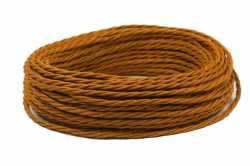 Interior Wire Провод двухжильный ПВХ, в полиэфирной оплетке, ПРВ 2х2.5, цвет медь, , Кратность заказа: 1, Гарантия: 12 месяцев, Тип изделия: Провод, Цвет: Медь, Тип монтажа: Открытый, Сечение: 2,5, Количество жил: 3, Материал корпуса: ПРВ, Единицы измерения: метры, Артикул производителя: ПРВ 2х2.5 медь, Производитель: Interior Wire, Страна: Россия
