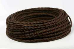 Interior Wire Провод двухжильный ПВХ, в полиэфирной оплетке, ПРВ 2х2.5, цвет шоколад, , Кратность заказа: 1, Гарантия: 12 месяцев, Тип изделия: Провод, Цвет: Шоколад, Тип монтажа: Открытый, Сечение: 2,5, Количество жил: 3, Материал корпуса: ПРВ, Единицы измерения: метры, Артикул производителя: ПРВ 2х2.5 шоколад, Производитель: Interior Wire, Страна: Россия