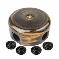 B1-521-25-К Коробка распределительная-D78 с заглушками, пластик, бронза
