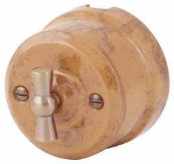 Ретро выключатель капучино 34030 Lindas одноклавишный