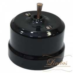 Выключатель тумблерный перекрестный Lindas Lindas 34615-C, цвет черный/медь