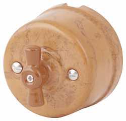 080-996 Выключатель Паломино проходной двухклавишный, керамический. 240V, 10A.