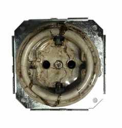 Механизм розетки Colony с заземл. конт., мрамор Retrika арт.RSV-80006