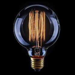 Лампа накаливания Voltega Loft шар прозрачный E27 40W 2200K G80 VG6-G80A1-40W 5920