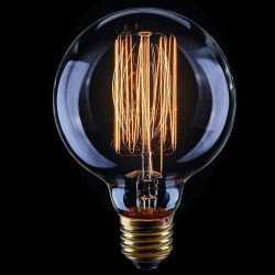Лампа накаливания Voltega Loft шар прозрачный E27 60W G80 2200K VG6-G80A1-60W 5921