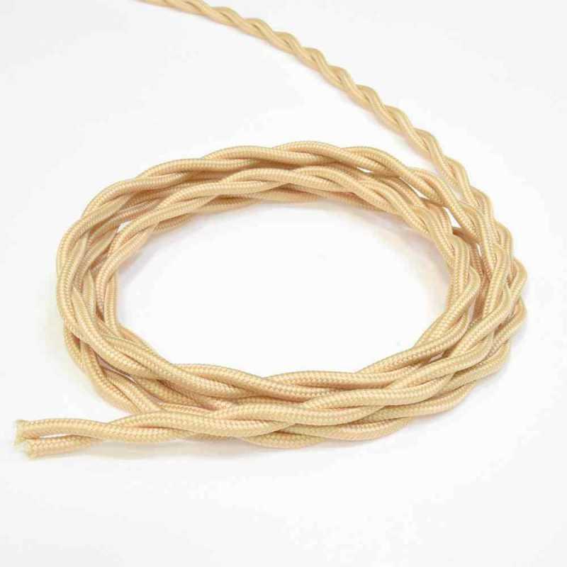 Витой провод электрический 3*2.5 песочное золото 63245 Lindas