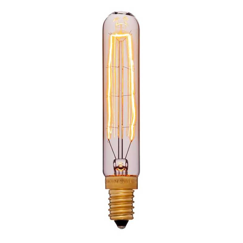 Лампа ретро винтаж 20x110 40W 240V E14 Золотая 054-188