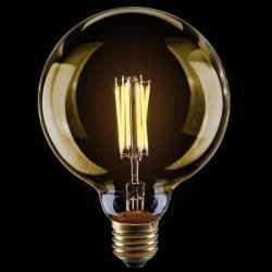 Лампа светодиодная диммируемая Voltega большой шар прозрачный Е27 8W 2800K G125 VG10-G125Gwarm8W 6838
