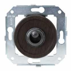 """Выключатель 1-кл (проходной) CL41WG.SL тумблерныйный 2-х позиционный для внутреннего монтажа серии """"состаренное серебро"""", венге"""