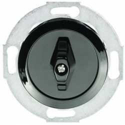 Выключатель поворотный двухклавишный (схема 5) 16 A, 250 B (черный) 880608-1