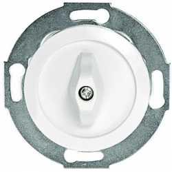 Переключатель поворотный одноклавишный (схема 6) 16 A, 250 B (белый) 880704-1