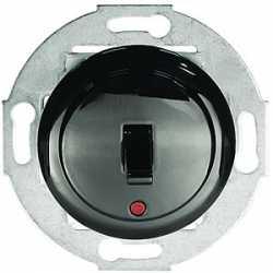 Переключатель 1-рычажковый, на 2 направления, с индикатором (схема 6L) 16 A, 250 B (черный) 880908-1
