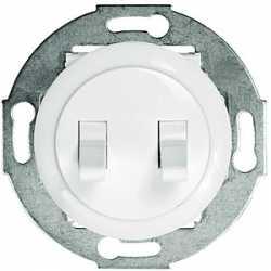 Выключатель 2-рычажковый (схема 5) 16 A, 250 B (белый) 882304-1
