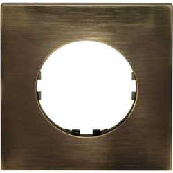 Рамка 1-постовая квадрат (бронза) 884127-1