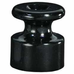 Фиксатор кабеля (изолятор) для внешней проводки кабеля (черный) 888308