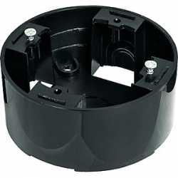 Подъемная коробка 1-пост. круглая (черный) 889008-1