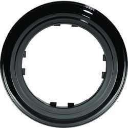 Рамка 1-постовая круглая (черный) 889108-1