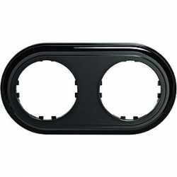 Рамка 2-постовая круглая (черный) 889208-1