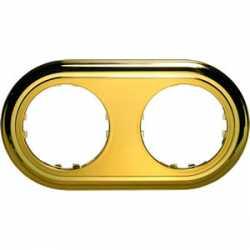 Рамка 2-постовая круглая (золото) 889216-1