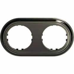 Рамка 2-постовая круглая (бронза) 889227-1