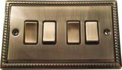 Четырёхклавишный выключатель проходной Balfour Grand D3042AB