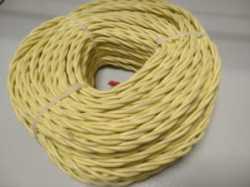 DV003431 Ретро проводка DVCab провод витой  «Желтый» 3*0,75