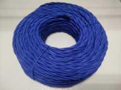 DV003455 Ретро проводка DVCab провод витой  «Синий» 3*0,75