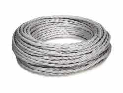 Ретро кабель витой ПВХ 3*1.5, бухта 50м, титан МезонинЪ, GE70151-37