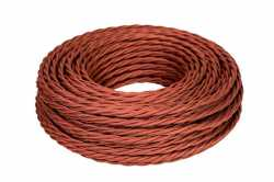 Ретро кабель ТВ, интернет (45 м) коричневый МезонинЪ, GE72100-04