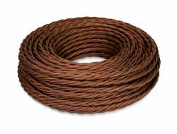 Ретро кабель ТВ, интернет (45 м) шоколад МезонинЪ, GE72100-17
