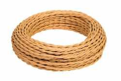 Ретро кабель ТВ, интернет (45 м) песочное золото МезонинЪ, GE72100-32