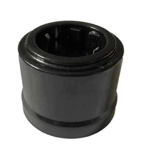Розетка АБС пластик KERUDA basic черная арт.KBS-04