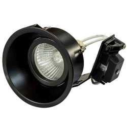 Встраиваемый светильник Lightstar Domino Round МR16 черный 214607