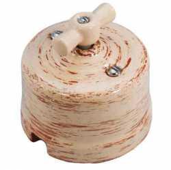 Выключатель 1-кл., проходной, декор КЕДР Retrika арт.R-SW-106