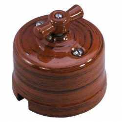 Выключатель 1-кл., проходной, декор ОРЕХ Retrika арт.R-SW-107