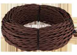 Ретро кабель витой 2х1,5 (коричневый) арт.WL00399