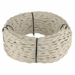 Ретро кабель витой 2х2,5 (песочный) арт.WL00402