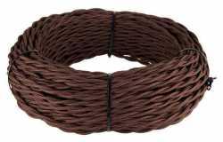 Ретро кабель витой 3х1,5 (коричневый) арт.WL00406