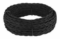 Ретро кабель витой 3х1,5 (черный) арт.WL00408