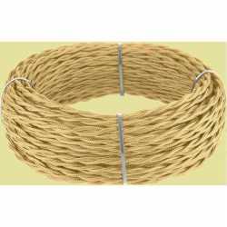 Ретро кабель витой 2х1,5 (золотой песок) арт.WL00413