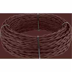 Ретро кабель витой 2х1,5 (итальянский орех) арт.WL00414