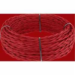 Ретро кабель витой 2х1,5 (красный) арт.WL00415