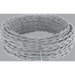 Ретро кабель витой 2х1,5 (серый) арт.WL00417