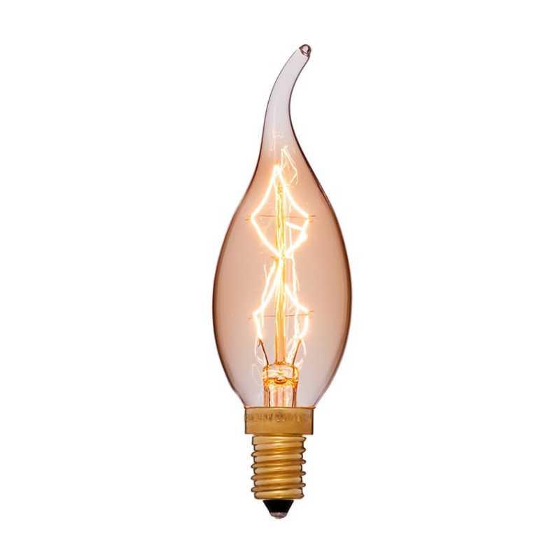 Декоративная лампа Эдисона винтаж 35x123 40W 240V E14 Золотая 052-078