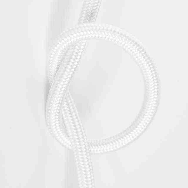 Антенный кабель одножильный круглый Villaris 1110101, матерчатый провод, цвет - белый
